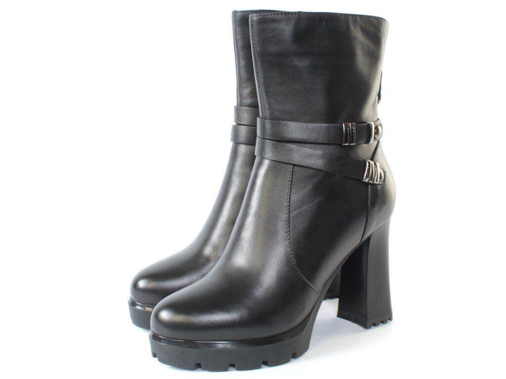 H155 BLACK Ботильоны женские (натуральная кожа, байка) размер 38 a85078c2c4b