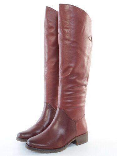 Z624-4 BROWN Сапоги женские (натуральная кожа, натуральный мех (полностью)) размер 39